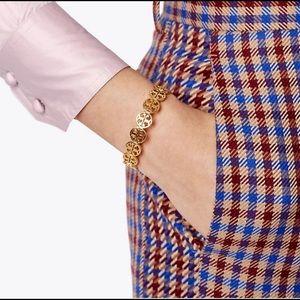 Tory Burch signature logo cuff bracelet